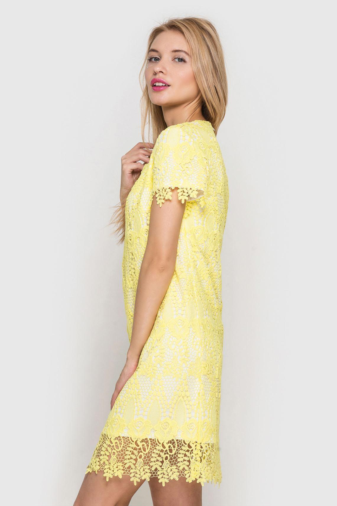 Сукня жовта з мережива  66ad57817ca0a
