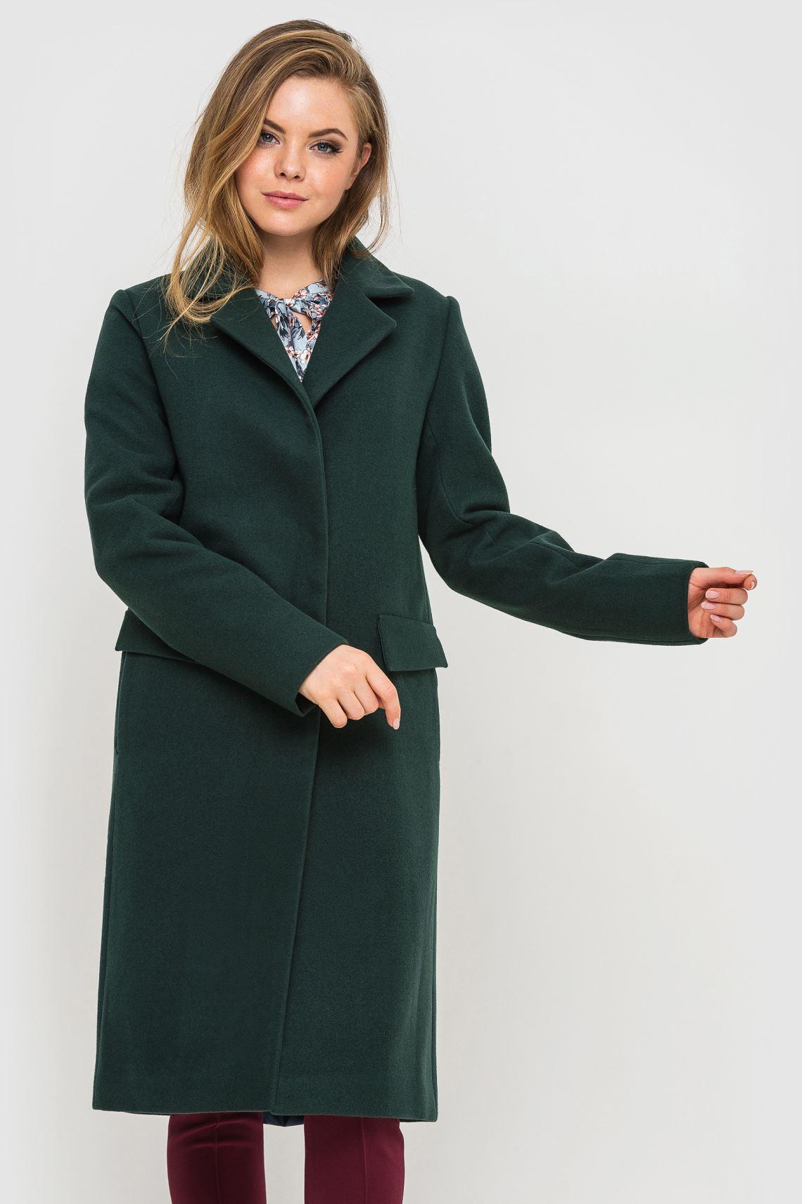 Пальто зелене подовжене  3192382261cac