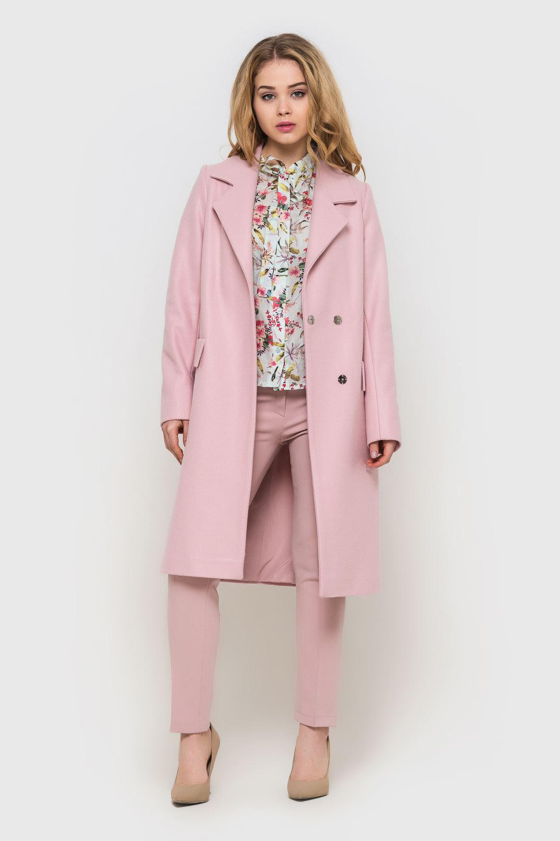 Пальто жіноче рожеве подовжене  d2810569522a5